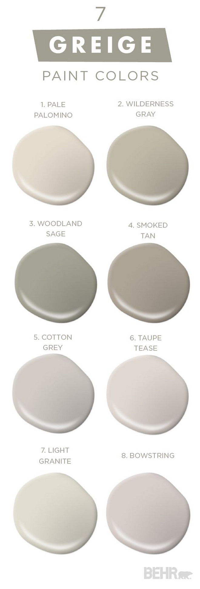 7 Greige Paint Colors Best Er By Behr Pale Palomino