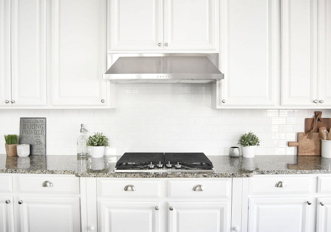 Affordable backsplash. Subway tile is an affordable option for backsplash and often looks great with any countertop material. Home Bunch's Beautiful Homes of Instagram Pillow Thought