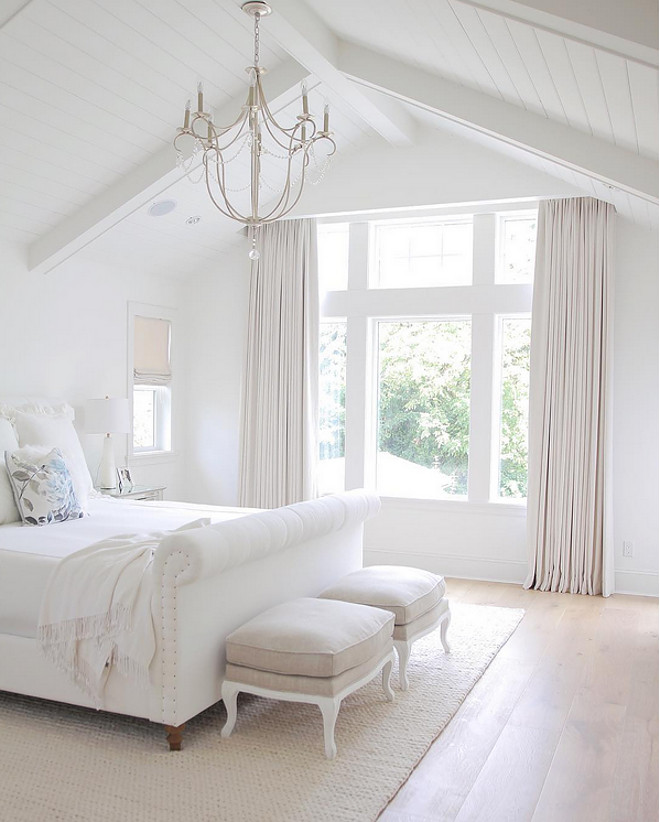 All White Bedroom. All White Bedroom Paint Color. All White Bedroom Painted in Benjamin Moore Simply White. #AllWhiteBedroom #WhiteBedroom #WhiteBedroomPaintColor #WhiteBedroomColor #WhitePaintColor #BedroomPaintColor #BenjaminMooreSimplyWhite Sonja - Instagram @jshomedesign