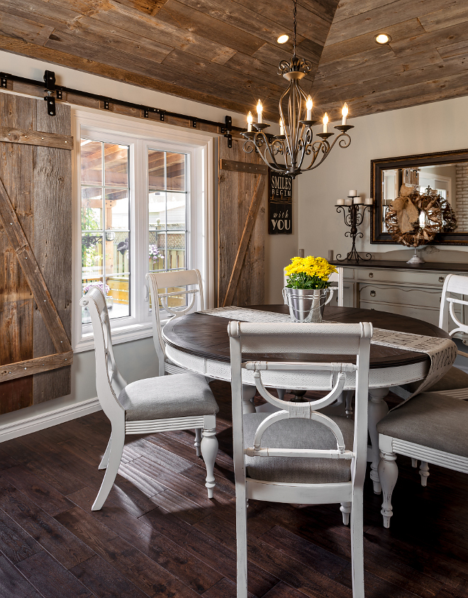 Whitewashed Brick Amp Reclaimed Barn Wood Shiplap Interiors