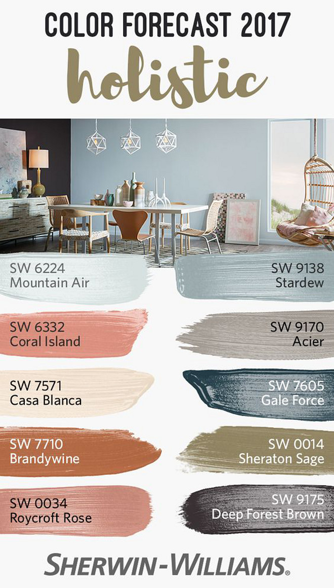 Best Paint Color for 2017. New Paint Colors for 2017. Sherwin Williams