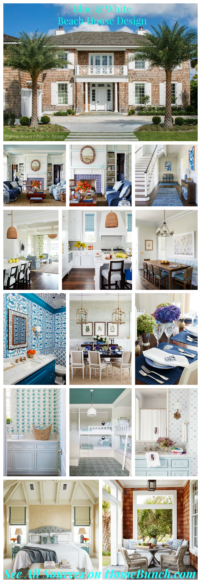 Blue and White Beach House Design. Blue and White Beach House Design Ideas. Blue and White Beach House Design #BlueandWhite #BeachHouseDesign
