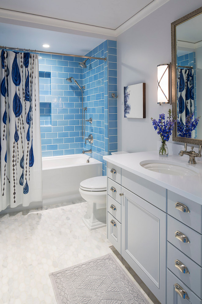 blue and white bathrooms traditional coastal home with classic white kitchen home 17446