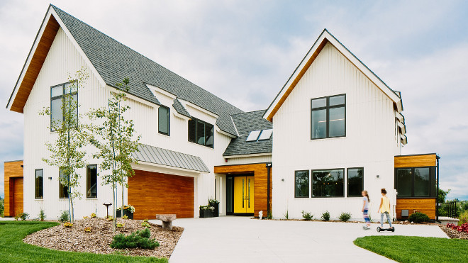 Contemporary Farmhouse Exterior. Contemporary Farmhouse Exterior #ContemporaryFarmhouseExterior #ContemporaryFarmhouse #Farmhouse Keller Architecture.