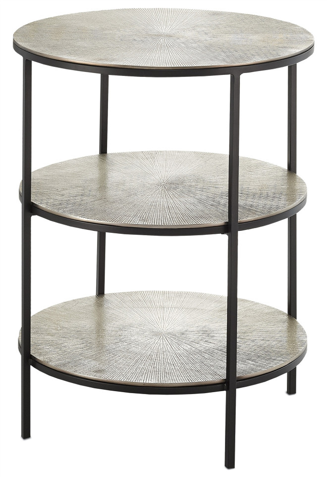 Currey and co Cane Accent Table.