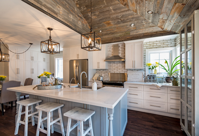 Stone Backsplash Kitchen Joanna Gaines