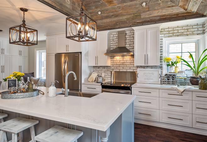 Farmhouse kitchen. Farmhouse kitchen. On the left, you can find a wall with floor-to-ceiling cabinets. These provide pantry space and room for cleaning supplies. Farmhouse kitchen Farmhouse kitchen. <Farmhouse kitchen> #Farmhousekitchen