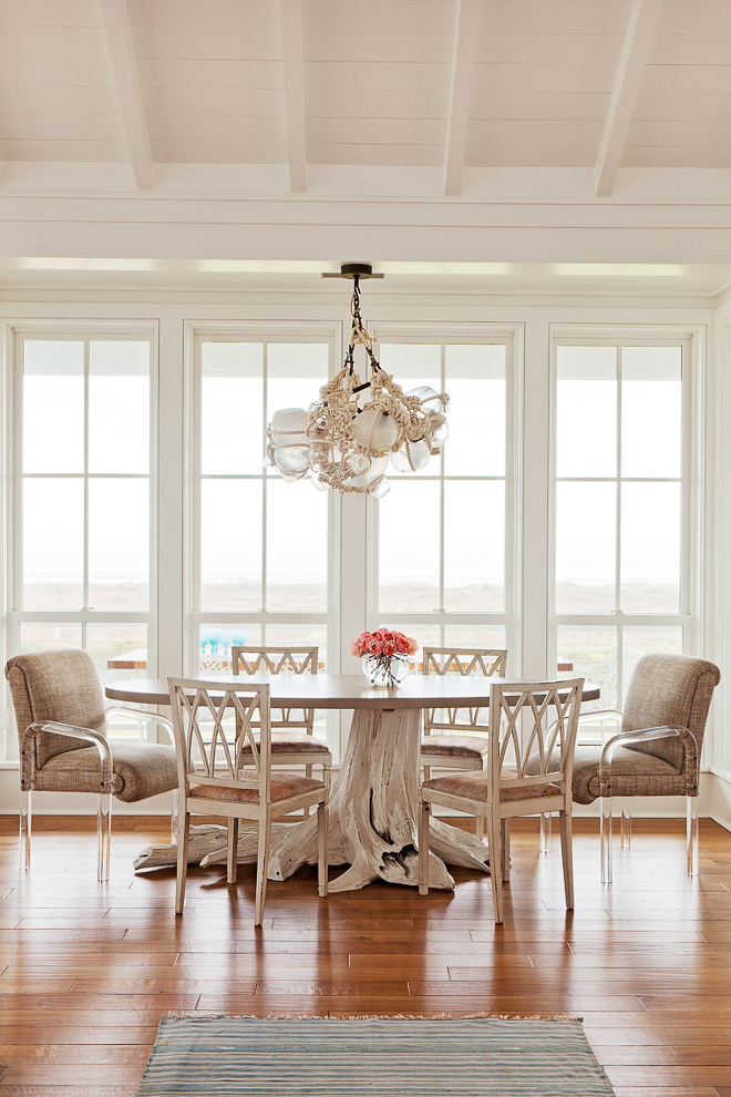 Glass and Rope cluster Chandelier. Dining room Glass and Rope cluster Chandelier is by Lindsay Adleman. Cluster Chandelier. Glass and Rope cluster Chandelier #GlassandRopeChandelier #GlassandRope #Chandelier #clusterchandelier Beau Clowney Architects. Jenny Keenan Design