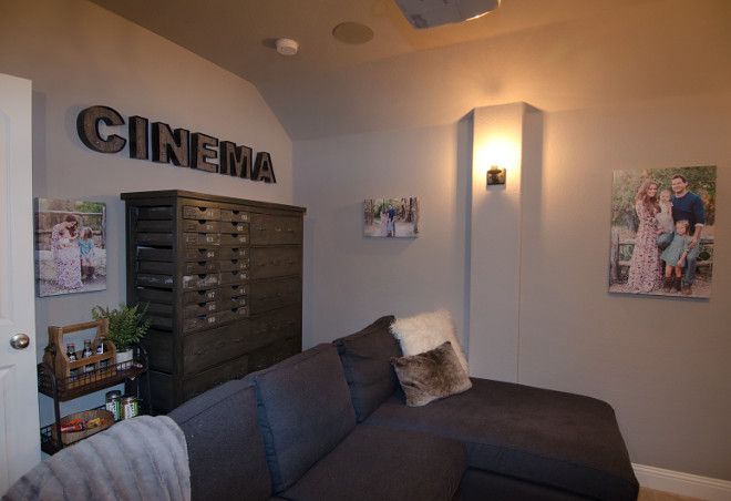 Home Theater. Home Theater Storage Ideas. Home Theater Decor. Home Theater Paint Color #HomeTheater #HomeTheaterIdeas #HomeTheaterStorageIdeas #HomeTheaterStorage #HomeTheaterPaintColor Pillow Thought Home
