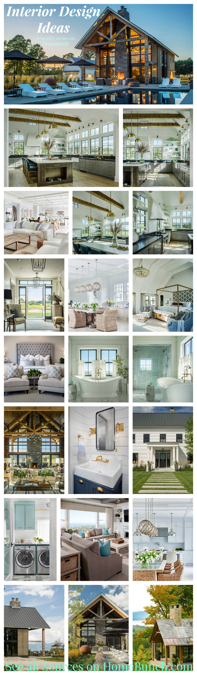 Interior Design Ideas. Interior Design Ideas. Weekly series with the newest interior design ideas. Interior Design Ideas on Home Bunch. #InteriorDesignIdeas