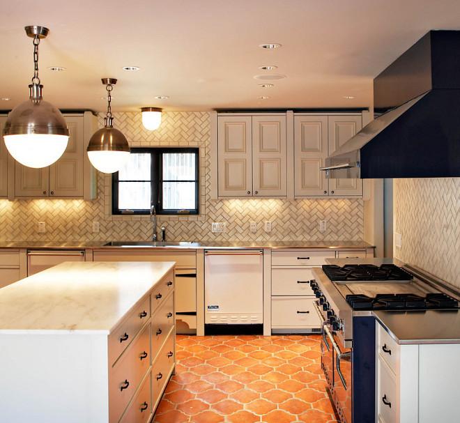 Kitchen Arabesque terracota tile. Kitchen Arabesque terracota tile ideas. Kitchen Arabesque terracota tile and herringbone backsplash tile #Kitchen #Arabesque #terracotatile MORE design+build.