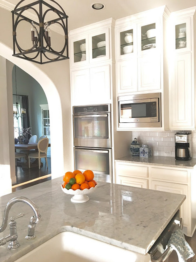 Kitchen Countertop. The kitchen countertop is polished white marble. Kitchen Countertop. Kitchen Countertop. Kitchen Countertop #Kitchen #Countertop #Kitchencountertop