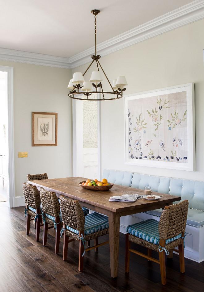 Kitchen Nook. Traditional Aqua Kitchen Nook. Blue and white and turquoise kitchen nook. #KitchenNook #TraditionalKItchenNook #AquaKitchenNook #Blueandwhite #turquoise #kitchennook Andrew Howard Interior Design
