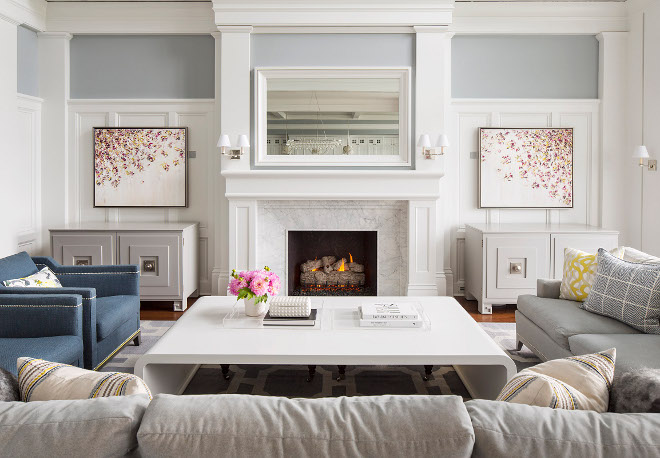 Living room wainscoting. Living fireplace wainscoting. Living room wainscoting. Living fireplace wainscoting #Livingroomwainscoting #wainscoting #Livingroom #fireplacewainscoting Martha O'Hara Interiors