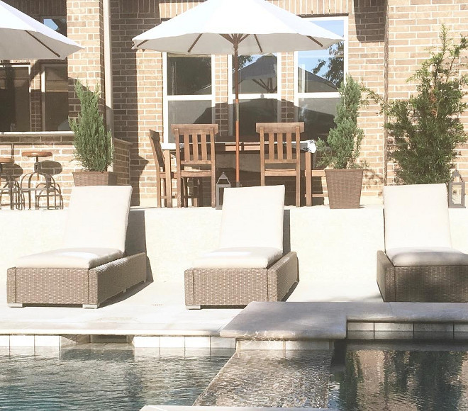 Loungers #Pool #Loungers Beautiful Homes of Instagram: classicstylehome