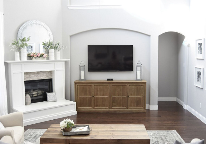 Media Cabinet. Family room media cabinet. Media Cabinet #MediaCabinet Home Bunch's Beautiful Homes of Instagram Pillow Thought