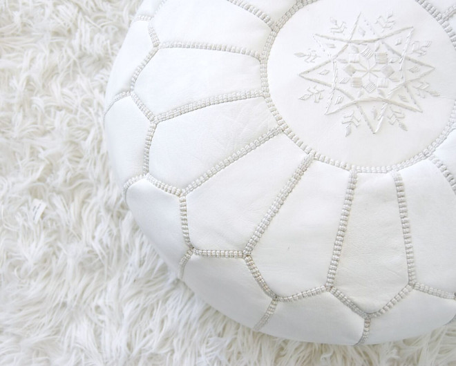 Moroccan Pouf. White Moroccan Pouf. Moroccan Pouf #MoroccanPouf #WhiteMoroccanPouf Pillow Thought