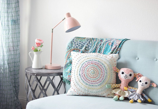 Playroom decor. Playroom decor and color palette. Playroom decor and color palette ideas #Playroomdecor #Playroomcolorpalette Home Bunch's Beautiful Homes of Instagram Pillow Thought