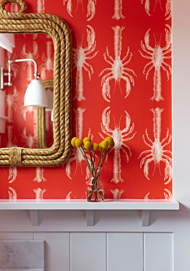 "Red Wallpaper. The lobster wallpaper is Lobby from Abnormals Anonymous in ""Red Pepper"". Red Wallpaper #RedWallpaper Chango & Co."