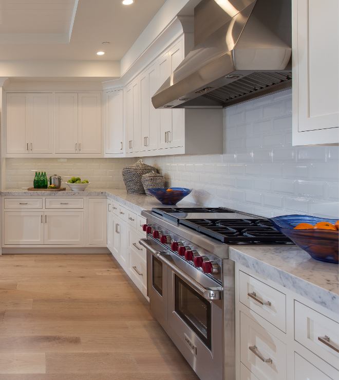 white color kitchen. Restoration Hardware The Right White  Paint Color Kitchen cabinet painted in Cape Cod California Beach House with Blue and Interiors Home