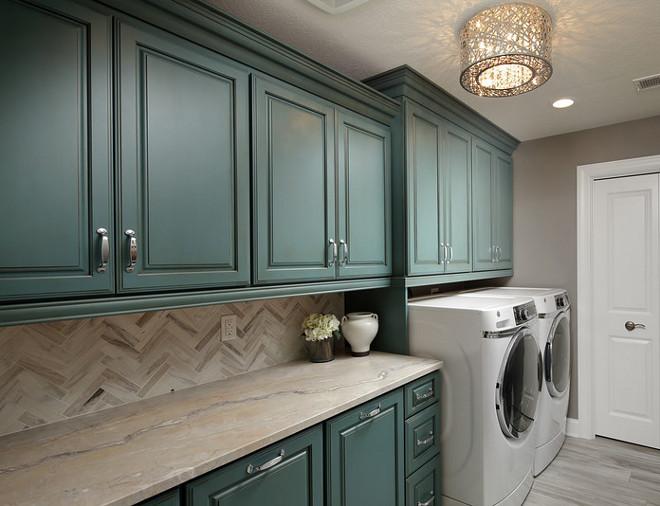 Robin's Egg Blue Cabinet with glaze. Glazed Robin's Egg Blue Cabinet. Laundry room with Glazed Robin's Egg Blue Cabinet. #RobinsEggBlueCabinet #RobinsEggBlue #RobinsEggBluePaintColor #GlazedRobinsEggBlueCabinet Barrington Homes Inc.
