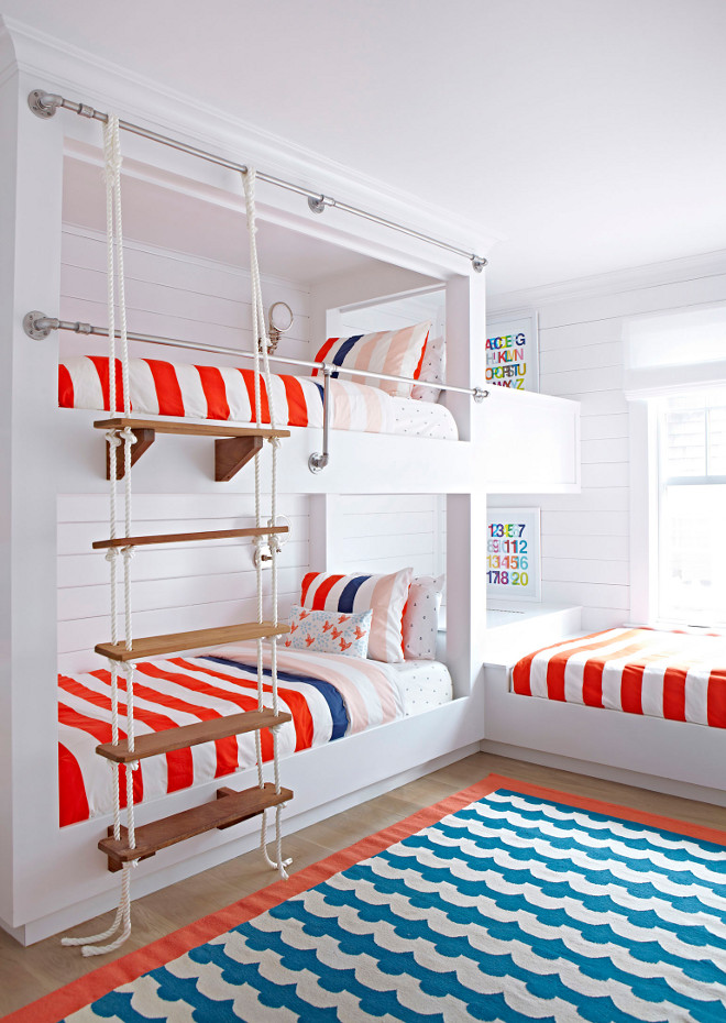 Rope and Wood Bunk Bed Stair. Rope and Wood Bunk Bed Stair Ideas. Rope and Wood Bunk Bed Stair. #RopeStair #RopeWood #BunkBed #BunkBedStair Chango & Co.