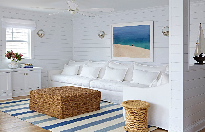 Shiplap Living room. Shiplap Living room. Shiplap Living room. Coastal living room with shiplap walls #ShiplapLivingroom #Shiplap #Livingroom Chango & Co.