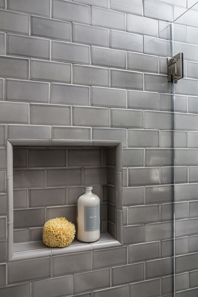 Bathroom Reno With Grey Subway Tile Home Bunch Interior