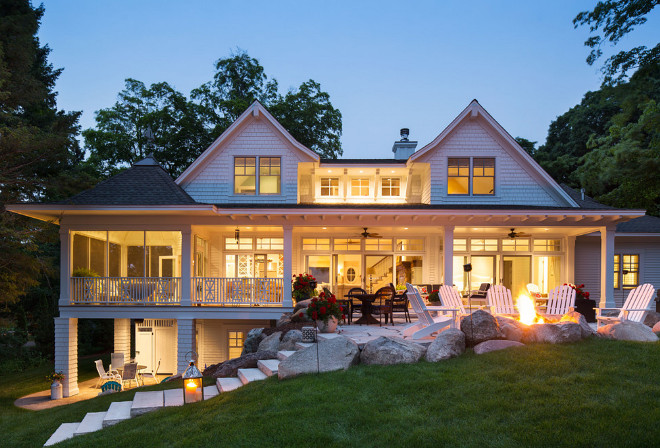 Sloped Backyard. Sloped Backyard. Sloped Backyard with Firepit. Sloped Backyard Concept. Sloped Backyard #SlopedBackyard Sharratt Design & Company