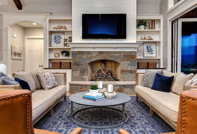 Stone and shiplap fireplace. Stone and shiplap fireplace ideas. Stone and shiplap fireplace. Stone and shiplap fireplace. Stone and shiplap fireplace #Stoneandshiplapfireplace Timberidge Custom Homes