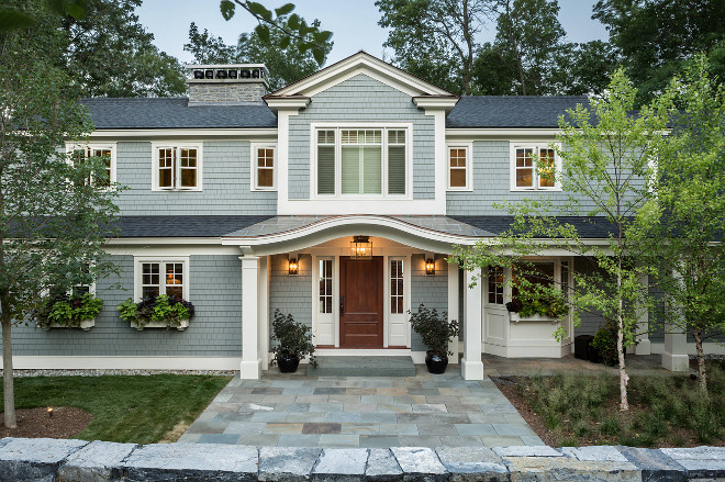 Traditional Grey shingle home. Traditional Grey shingle home exterior. Traditional Grey shingle home ideas. Traditional Grey shingle home #TraditionalGreyshinglehome #Traditionalshinglehome Roundtree Construction