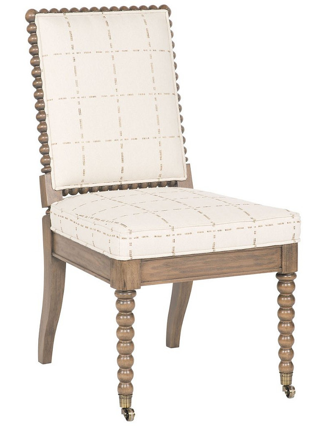 Dining Chair: Vanguard Furniture Franco Flax Hannah Side Chair   $$  Dimensions: Overall