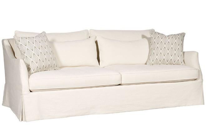 Vanguard Furniture Jennings Ivory Litchfield Sofa Slipcover. Vanguard Furniture Jennings Ivory Litchfield Sofa Slipcover