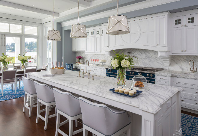Classic White Kitchen traditional coastal home with classic white kitchen - home bunch
