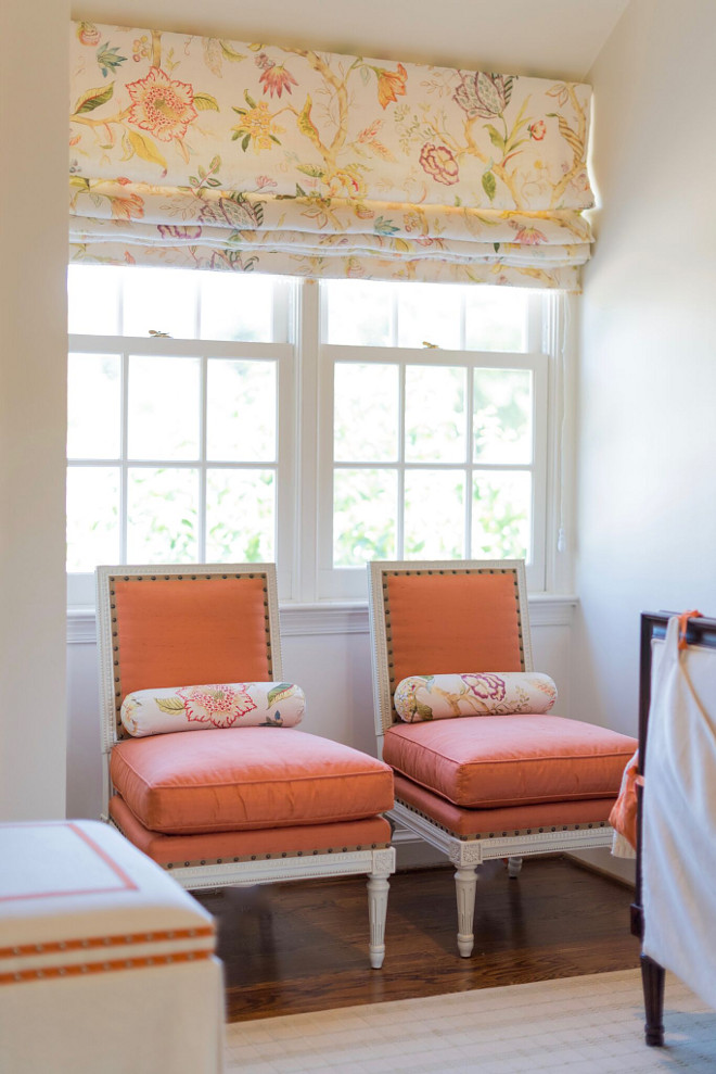 Chairs and twin beds are Suzanne Kasler for Hickory Chair, drapery fabric is Vervain with trim from Samuel and Sons. Home Bunch's Beautiful Homes of Instagram @loveyourperch