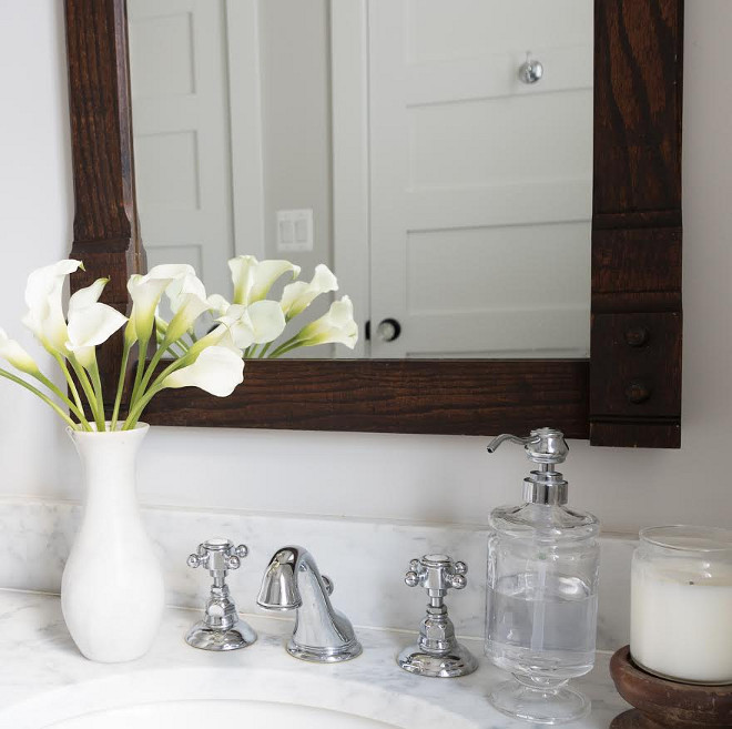Rohl, Country Bath w/ Cross Handles, Chrome. Beautiful Homes of Instagram @greensprucedesigns