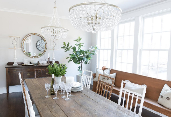 Farmhouse dining room. Farmhouse dining room. Farmhouse dining room decor. Farmhouse dining room farmhouse #Farmhousediningroom Beautiful Homes of Instagram @greensprucedesigns