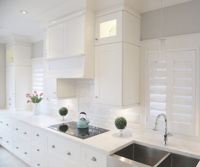 Ikea Kitchen ideas. White Ikea Kitchen. This white kitchen features Ikea Cabinetry, Grimslov Doors. #Ikeakitchen #whiteikeakitchen #IkeaKitchenCabinetry #GrimslovDoors Interiors by Alita Malinowski. Instagram @life_with_alita