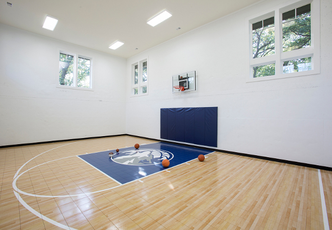 Indoor Basketball Court, Home Indoor Basketball Court Ideas, Indoor Basketball Court Design #IndoorBasketballCourt Hendel Homes