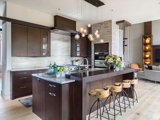 Kitchen Lighting, Modern Kitchen Lighting, Lighting is from Bahir Lighting #kitchenlighting #kitchen #lighting #modernlighting #modernkitchenlighting #modern #kitchen Hendel Homes