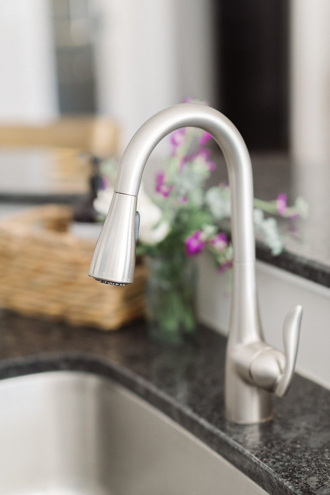 Kitchen faucet, Kitchen faucet is Moen Arbor in Stainless. Kitchen faucet #kitchenfaucet #kitchen #faucet Beautiful Homes of Instagram @thegraycottage