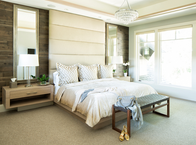 Master Bedroom Shiplap wall. Modern Master Bedroom Shiplap wall. #MasterBedroom #Shiplap #shiplapwall Hendel Homes