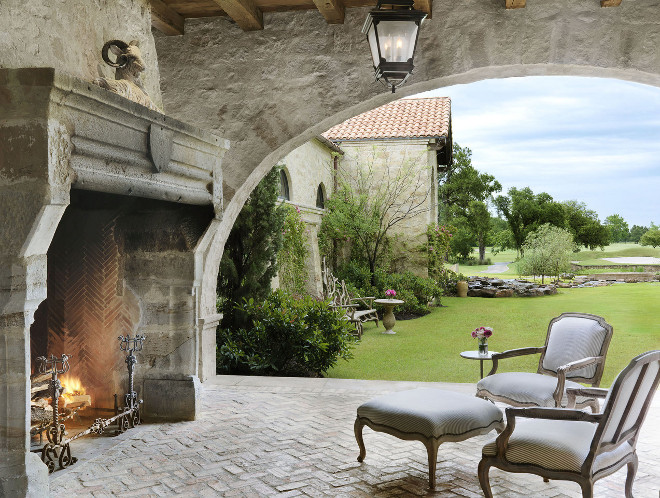 Outdoor Fireplace, Rustic Stone Outdoor Fireplace, Outdoor Fireplace, Outdoor Fireplace #OutdoorFireplace