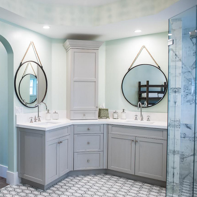 Palladian Blue by Benjamin Moore. Palladian Blue by Benjamin Moore, Palladian Blue by Benjamin Moore Paint Color #PalladianBluebyBenjaminMoore #PalladianBlueBenjaminMoore #BenjaminMoorePalladianBlue #BenjaminMoorePaintcolors Waterview Kitchens