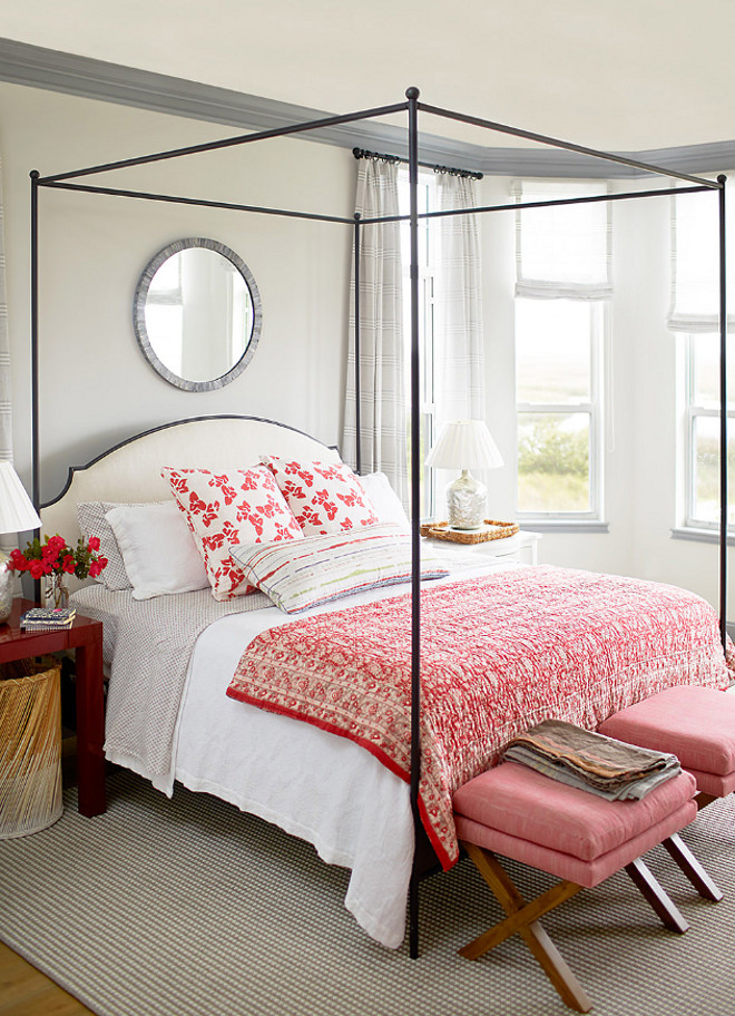 Paper White by Benjamin Moore. The master bedroom paint color is Paper White by Benjamin Moore. Paper White by Benjamin Moore #PaperWhitebyBenjaminMoore #PaperWhiteBenjaminMoore Andrew Howard Interior Design