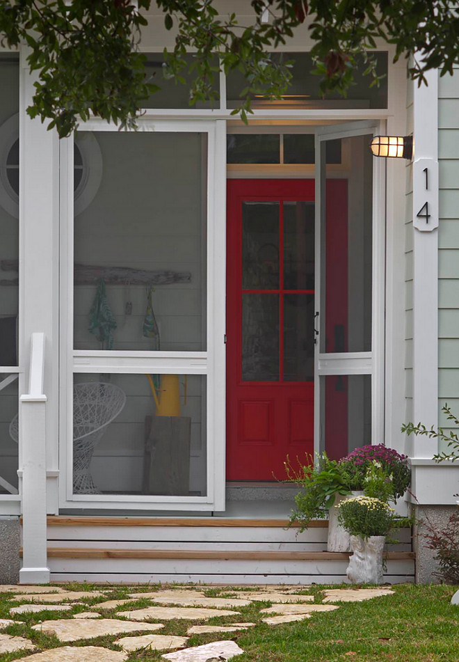 Red Door Paint Color Sherwin Williams Gladiola SW 6875, Red Front Door Paint Color Sherwin Williams Gladiola SW 6875 #RedDoor #Redfrontdoor #PaintColor #SherwinWilliamsGladiolaSW6875 Rethink Design Studio