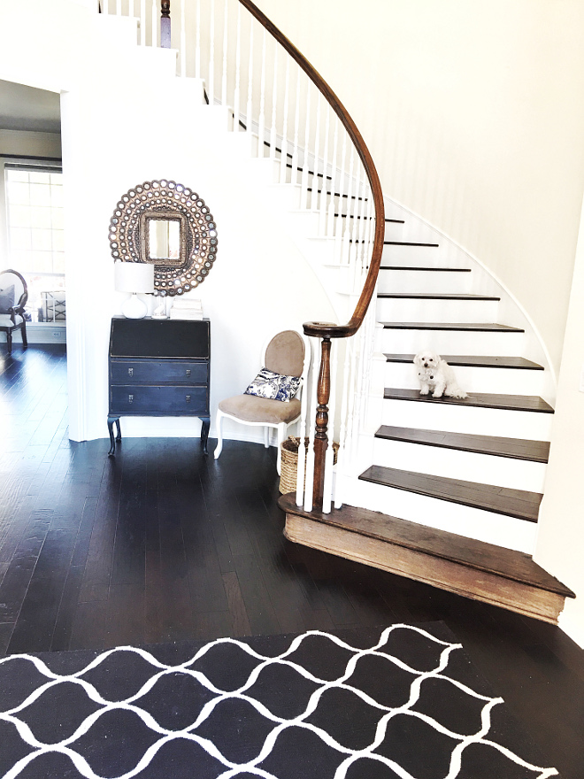 Refinished Hardwood Flooring. Refinished Hardwood Flooring. Refinished Hardwood Flooring. #RefinishedHardwoodFlooring Beautiful Homes of Instagram @thriftyniftynest