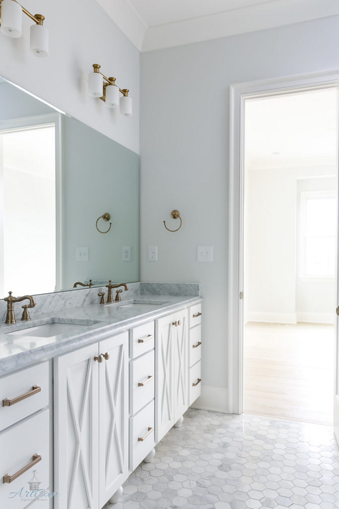 Sherwin Williams SW 7056 Reserved White. Sherwin Williams SW 7056 Reserved White Paint Color. Wall cabinet paint color #SherwinWilliamsSW7056 #SherwinWilliamsReservedWhite #SherwinWilliamsSW7056ReservedWhite Built by Artisan Signature Homes. Interior Design by Gretchen Black from Greyhouse Design.