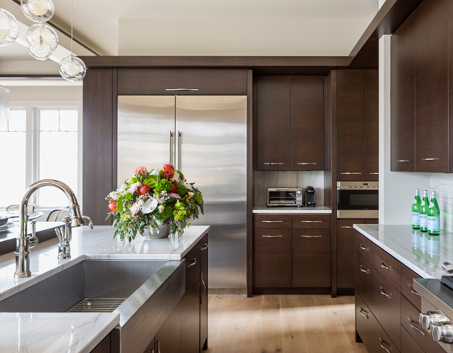 Skeek Kitchen Design, Organic Skeek Kitchen Design, The reconstituted Walnut cabinet uses a 3 part custom finish, Skeek Kitchen Design, Skeek Kitchen Design #SkeekKitchenDesign #SkeekKitchen #SkeekKitchenIdeas #OrganicKitchen Hendel Homes