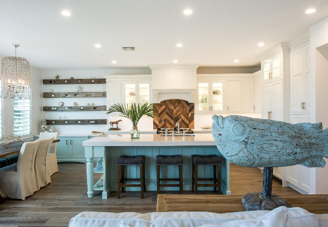 White and turquoise kitchen, Coastal kitchen with white and turquoise colors. White and turquoise kitchen. Open White and turquoise kitchen #Whiteandturquoise #Whiteandturquoisekitchen #Coastal #Whiteandturquoisekitchen #coastalkitchen #turquoisekitchen Waterview Kitchens